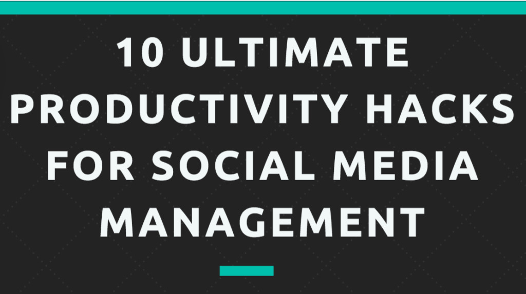 social media productivity tips